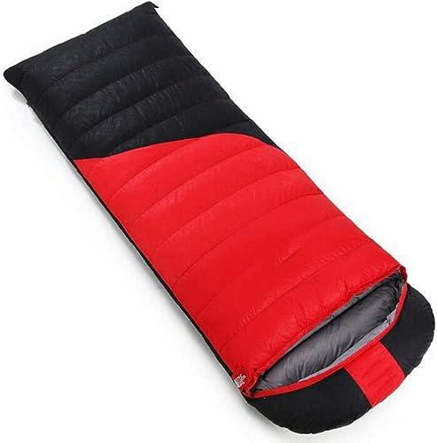 FEIYUESS Sac de Couchage enveloppe, Camping en Plein air pour Adultes Garder au Chaud Le Sac de Couchage, Peut être collé dans Un Sac de Couchage Double (Couleur   rouge 3, Taille   2.5KG)