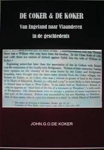 de Coker&de Koker Van Engeland Naar Vlaanderen