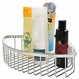 Estante de esquina de ducha de acero inoxidable 304 montado en la pared esquina de alambre de ducha cesta de ducha cesta de jabón de ducha soporte