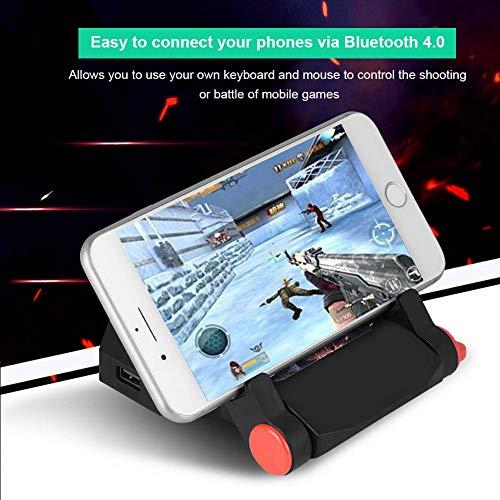 Qiter Conversor de Juegos para móviles Conversor de Teclado y ratón Luz Batería de polímero incorporada Oficina para el hogar