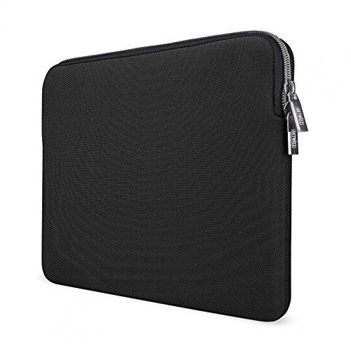 Artwizz Neoprene Sleeve Tasche designed für [MacBook 12] - Laptop Schutzhülle mit Reißverschluss, Webpelz, extra Schutzrand - Schwarz - 12 Zoll