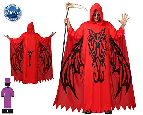Atosa-14859 Disfraz Demonio Para Hombre Adulto, color rojo, M-L (14859)