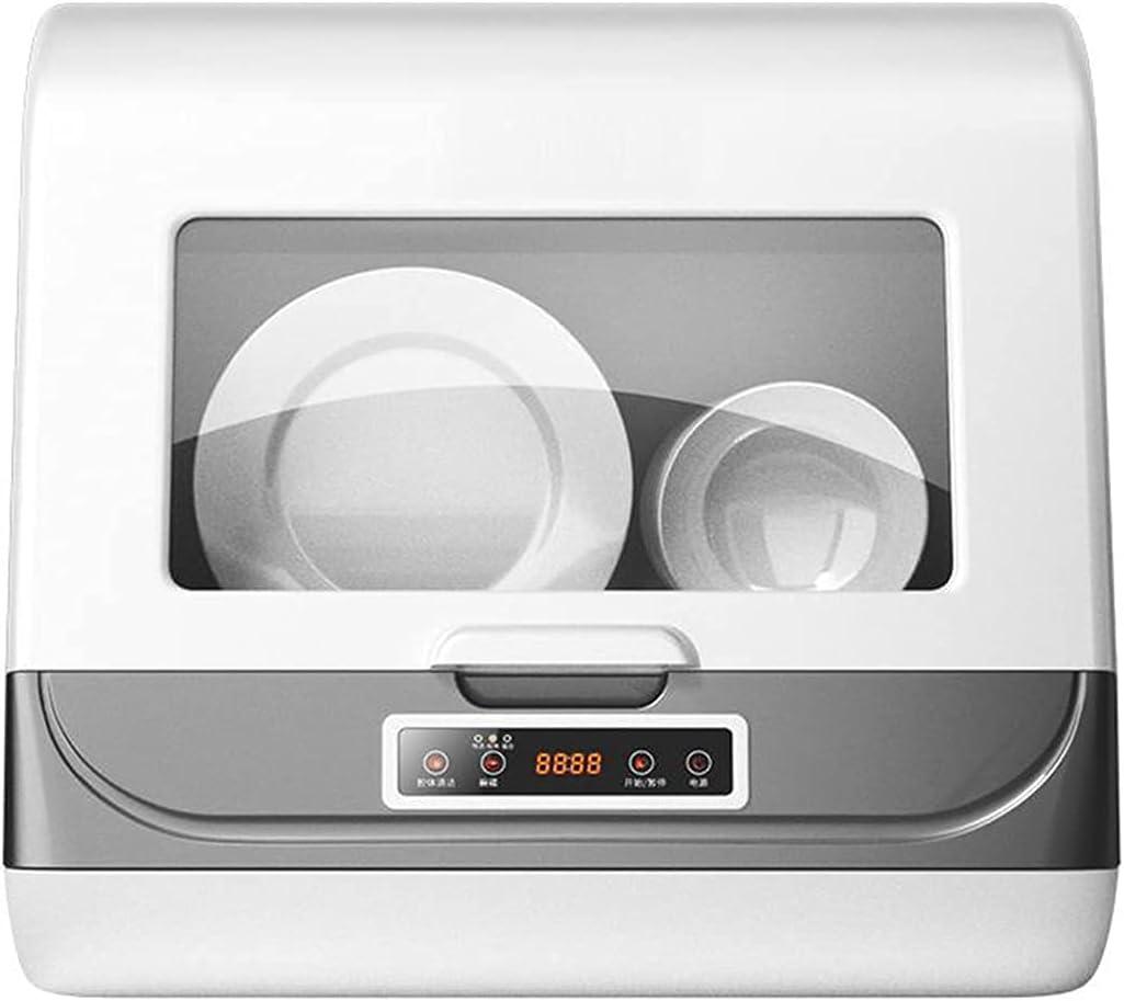MOSHUO Lavavajillas, pequeña máquina Todo en uno para Lavar Platos y desinfección automática de sobremesa, Adecuada para Limpiar vajilla, desinfección de vajilla, Negro