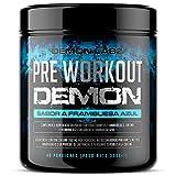 Pre Workout Demon (Sabor Frambuesa Azul) - Suplemento Potente pre-Entreno con Creatina, Cafeína, Beta-Alanina y Glutamina (Envase de 320 Gramos - 40 Porciones)