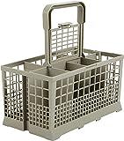 Cesta de cubiertos para lavavajillas, duradera, no tóxica, gran capacidad, apta para muchos lavavajillas y lavavajillas