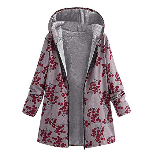 BaZhaHei Abrigo Invierno Mujer Chaqueta Suéter Jersey Mujer Cardigan Mujer Tallas Grandes Outwear Floral...