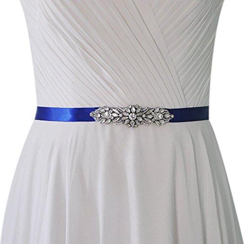 Eastery Damen Strass Hochzeit Braut Diamanten Rhinestones Gürtel Hochzeitsgürtel Dekorativen Kleider Einfacher Stil Belt Elegante Mode Hübsch Hübsch (Color : Lavendel, Size : One Size)