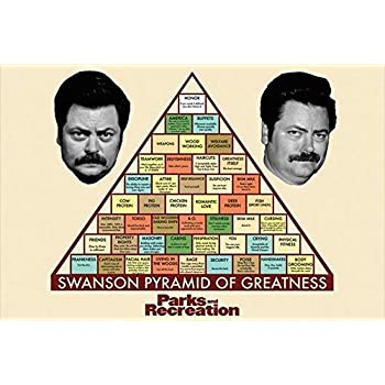 Parks and Recreation Tv Show Poster / Print 24 X 36 the Pyramid of Greatness by PosterSuperstars