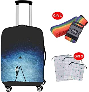 Suitcase Cover High Elastic Trolley Case Dust Cover Butterfly Print Waterproof Luggage Case Cover for 18-28 Inch Travel Case