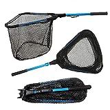 Collapsible Fish Landing Net, Lightweight Aluminum Handle (16.9'-30.8'), Sturdy & Durable Nylon Mesh (Hoop 15' x 15.7' x 13.8' Deep)