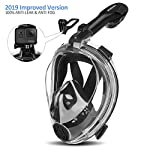 Orsen Newest Version Snorkel Mask Foldable 180 Panoramic View Free Breathing Full Face Snorkeling Mask with Detachable Camera Mount, Dry Top Set Anti-fog Anti-leak for Adults & Kids