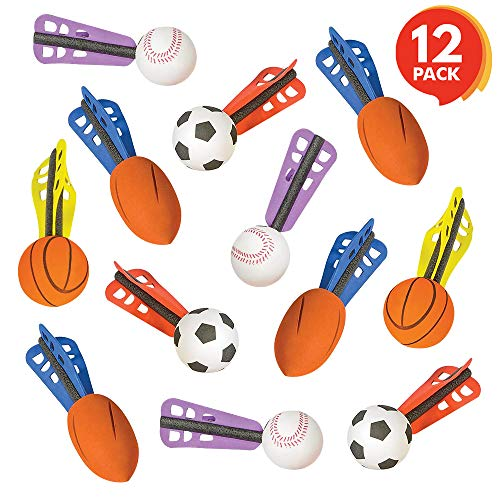ArtCreativity 6 Inch Jet Sports Balls - Set of 12 - Fun Flying Toys - Soft Safe Foam - Cool Summer Outdoor Activity - Sporty Birthday Party Favors for Boys, Girls, Toddlers - Goodie Bag Fillers