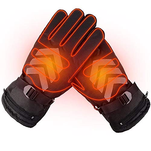 heated gloves rechargeable waterproof touchscreen