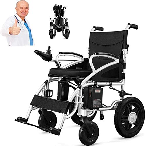 Power Wheelchair Fully-automatic Lightweight and Foldable Electric Wheelchair, Lithium Ion Battery, Up to 25 Miles Range for Disabled Elderly,suitable for All Kinds of People in Home and Outdoor Suita