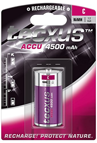 Tecxus batteria ricaricabile C mezza torcia Ni-MH 4500mh