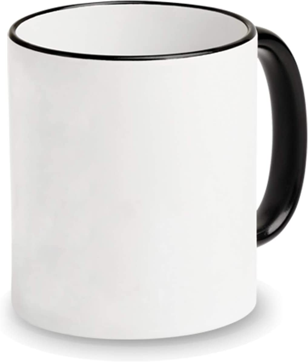 11 oz. Sublimation Mug with Black Halo and Handle