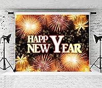 新年の花火のテーマ写真の背景は、新年のバナー写真ブースの小道具を祝う結婚式のフェスティバルをテーマにしたパーティー子供の誕生日新生児の写真撮影子供の写真の背景