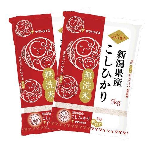 無洗米 令和元年産 新潟県産 コシヒカリ 10kg(5kg×2) 工場直送