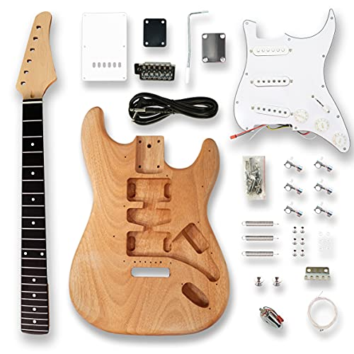 Bex Gears DIY Electric Guitar Kits for ST Electric Guitar, okoume Body