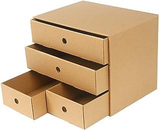 Rangement de dossiers Bureau Armoire de bureau Trieuse de rangement 4 tiroirs 34,5 * 27,5 * 25,5 (cm) Armoire de sécurité ...