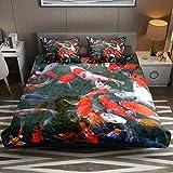 Juego de funda de edredón de microfibra de fácil cuidado con fundas de almohada con cremallera para niños y niñas