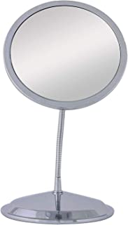 Double Vision Gooseneck Vanity/Wall Mount Mirror 5X/10X Magnification, Made in the USA