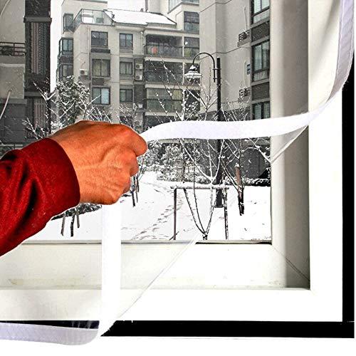 BLOUR Winterfensterisolierung Winddichte Folie Selbstschleimhautaufkleber Schalldichte Innenfensterfolie für energiesparende kristallklare Folie