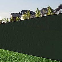 zimo Balcony Privacy Screen Wind Screens Fence Cover Shade Mesh Fence for Wall Garden Yard Backyard Screen 6'x50' (Green)