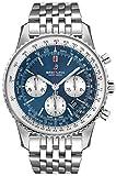 Breitling Navitimer 1 B01 cronografo 46 quadrante blu uomo orologio AB0127211C1A1