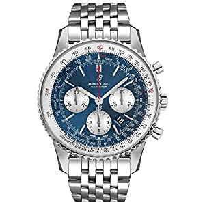 Breitling Watches Breitling Navitimer 1 B01 Chronograph 46 Blue Dial Men's Watch AB0127211C1A1