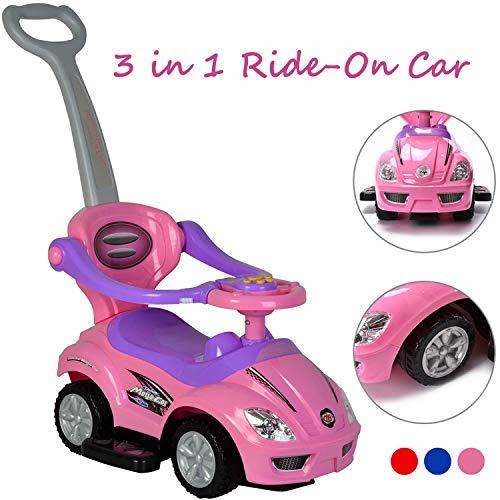 ChromeWheels 3 in 1 Ride on Toys Pushing...