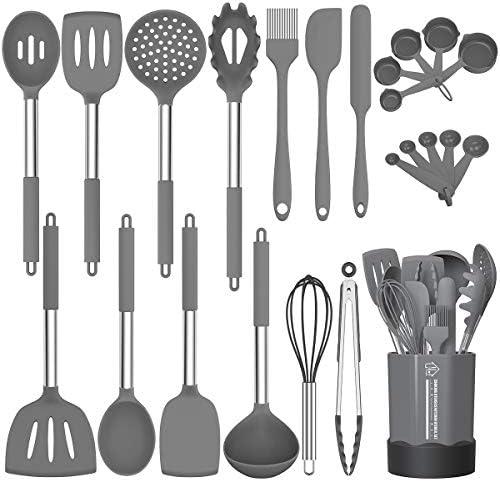 Silicone Cooking Utensil Set Fungun Non stick Kitchen Utensil 24 Pcs Cooking Utensils Set Heat product image