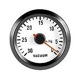 ESUPPORT Car Motor Vehicle Black Face 2' 52mm Pointer Vacuum Gauge Meter LED Light