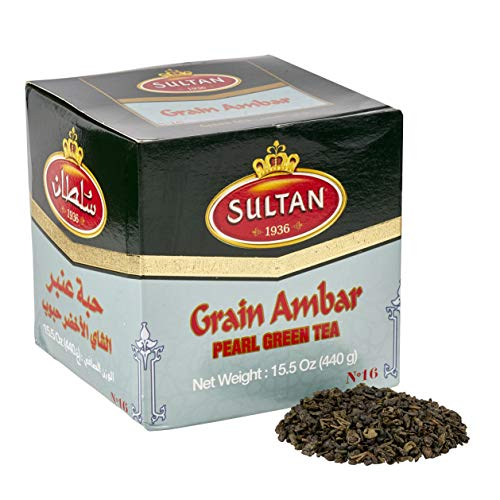 SULTAN TEA Moroccan Ambar Loose Green Tea, Herbal Green Teas 440g (Single Pack - 440g)