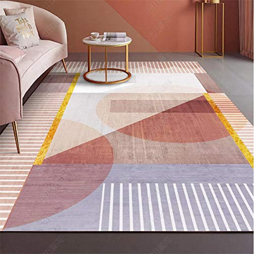 TANGYUAN area Rugs Living Room Decorative carpet - Living room carpets are exquisitely designed, casual multi-color patterns are exquisitely stitched and thick-140x200cm