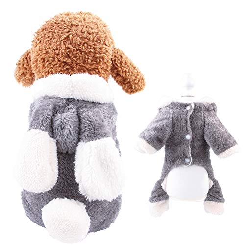 AOFITEE Dog Cute Cartoon Sheep Rabbit Shape Halloween Christmas Costume, Winter Warm Fleece Small Pet Hoodie Coat, Puppy Cold Weather Jacket Soft Comfy Jumpsuit Pajamas