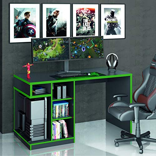 Gamer Table IDL XP 5k00 Siena Furniture Black / Green