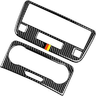 Vkospy en Fibre de Carbone Multim/édia Panneau Handrest Couverture Sticker Remplacement pour Mercedes Benz GLK 2008-2015
