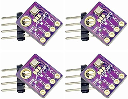 ZHITING 4 Pcs BME280 Compatible with BMP280 Digital 5V Barometric Atmospheric Humidity Sensor Pressure Table IIC I2C Breakout for Arduino