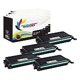 Smart Print Supplies Compatible CLP-K660B CLP-C660B CLP-M660B CLP-Y660B Toner Cartridge Replacement for Samsung CLP-610ND 660ND, CLX6200FX 6210FX Printers (Black, Cyan, Magenta, Yellow) - 4 Pack