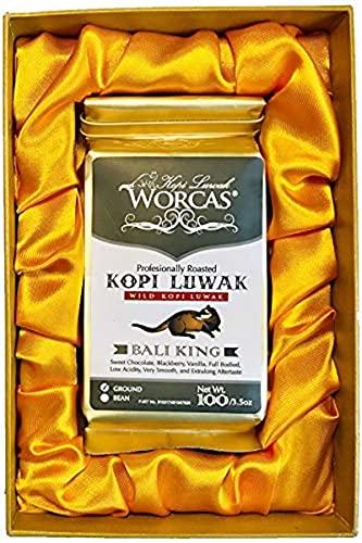 ギフト プレゼント 高級焙煎コーヒー コピ・ルアク KOPI LUWAK コピ・ルアック[Bali King] (豆のまま/100g)