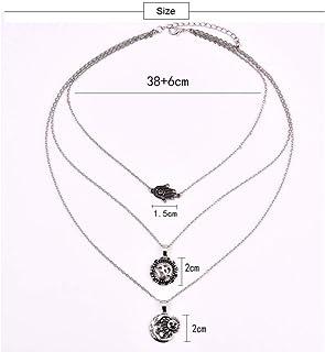 Nazar mano de Fatima-Hamsa collar antiguo plata grande