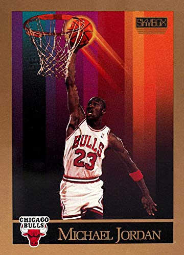1990-91 SkyBox Basketball #41 Michael Jordan Chicago Bulls Official NBA Trading Card