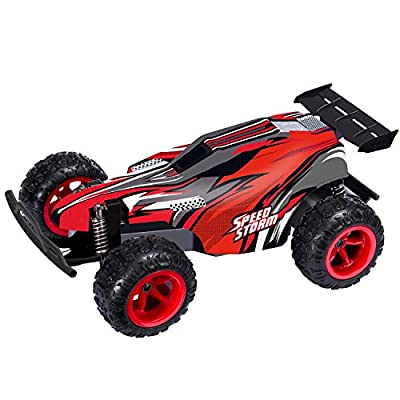 FREE TO FLY RC Cars 2.4GHz Radio Remote Control Car Off Road Vehicle 2W High Speed Fast Racing Drifting Buggy Hobby Electric Car Vehicle for Kids Boys and Girl (Red)