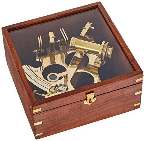 ITDC HANDTOOLED Handarbeit Messing Deutsch Casanova nauticals Sextant W/Hartholz Box
