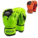 Kids Boxing Glove 6oz 8oz, Youth, Boys and Girls Training Sparring Gloves for Punching Bag, Kickboxing, Muay Thai, MMA, UFC, Gift for Age 6-15 Years (Green, 6 oz (45-80 lbs))