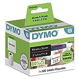 DYMO LW etiquetas auténticas multiusos   54mmנ70mm   rollo de 320etiquetas con reverso fácil de retirar   autoadhesivas   para etiquetadoras LabelWriter