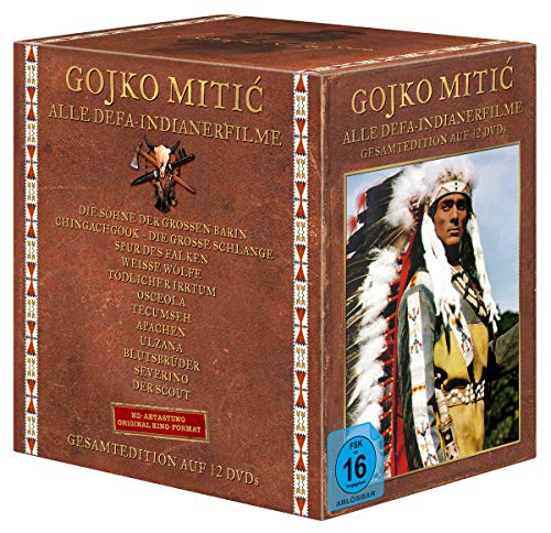 Gojko Mitic - Alle DEFA-Indianerfilme - Gesamtedition auf 12 DVDs