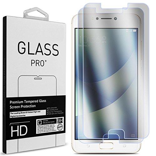 ASUS ZenFone 4 Max Screen Protector (5.2 ZC520KL), CoverON 2 Piece Premium Slim Fit Tempered Glass Screen Protectors [9H, Anti-Scratch, Anti-Bubble] - Clear