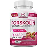 100% Pure Forskolin - Non GMO, Gluten Free, All Natural & Made in USA - Assist Metabolism Function, Weight Loss Support for Women & Men - Coleus Forskohlii Root Extract (60 Capsules)